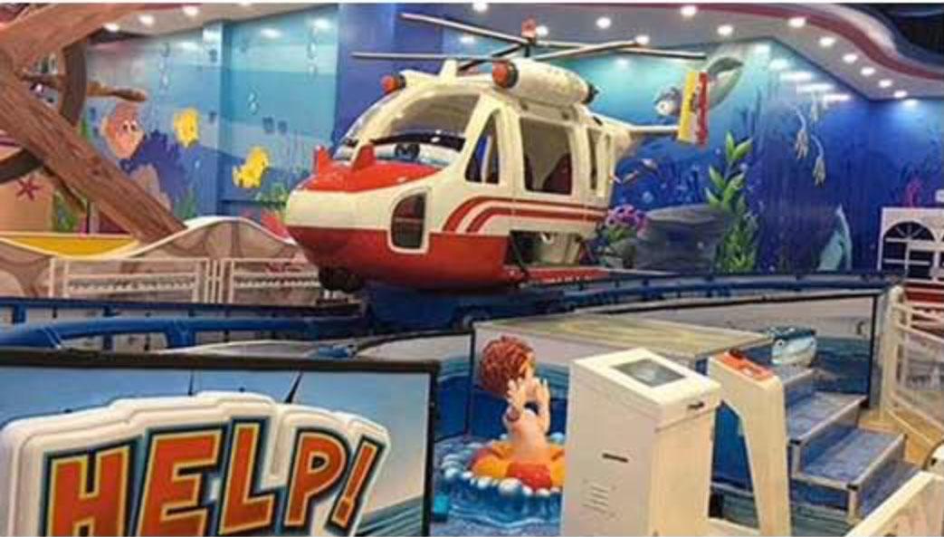giostre bambini - fireman helycopter