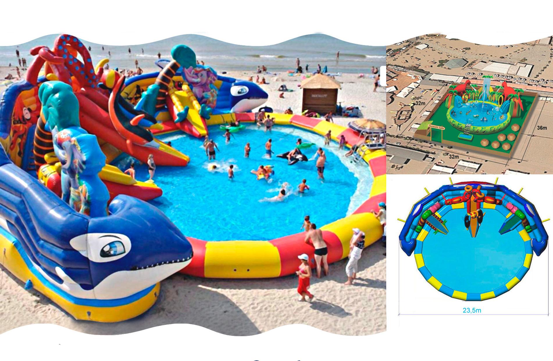 Gonfiabili acquatici scivoli acquatici piscina con scivoli for Giostre gonfiabili usate